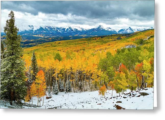 Colorado Valley Of Autumn Color Greeting Card