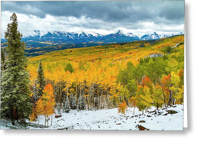 Colorado Valley Of Autumn Color Greeting Card