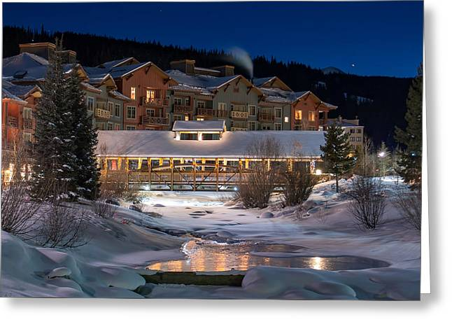 Colorado Winter Evening Greeting Card by Michael J Bauer