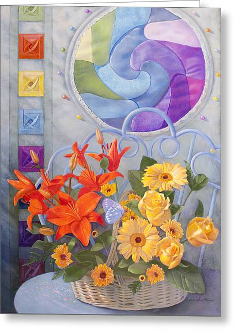 Colordance Of Summer Greeting Card by Nancy Lee Moran