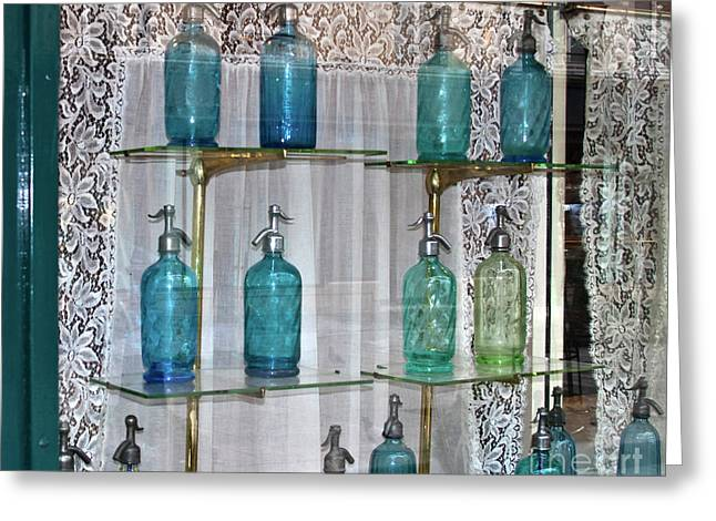 Seltzer greeting cards page 4 of 5 fine art america colored bottles greeting card m4hsunfo