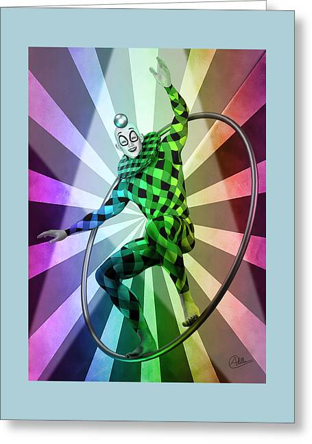Colored Circus  Greeting Card by Quim Abella