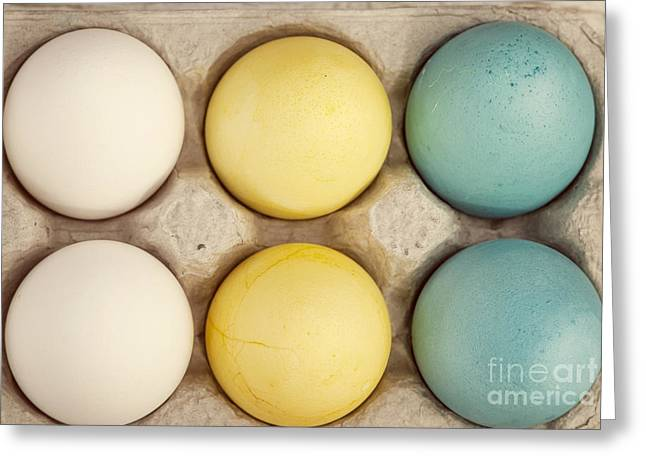 Colored Eggs Greeting Card by Juli Scalzi