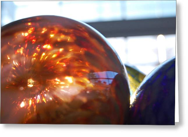 Colored Glass Universe Greeting Card by Jean Booth