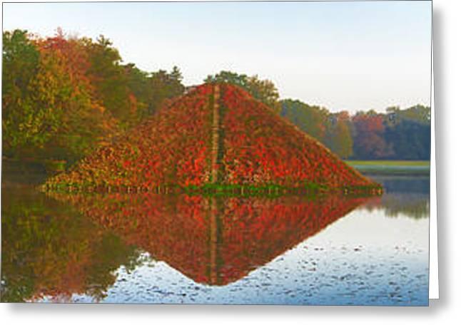 Colored Lake Pyramid Greeting Card