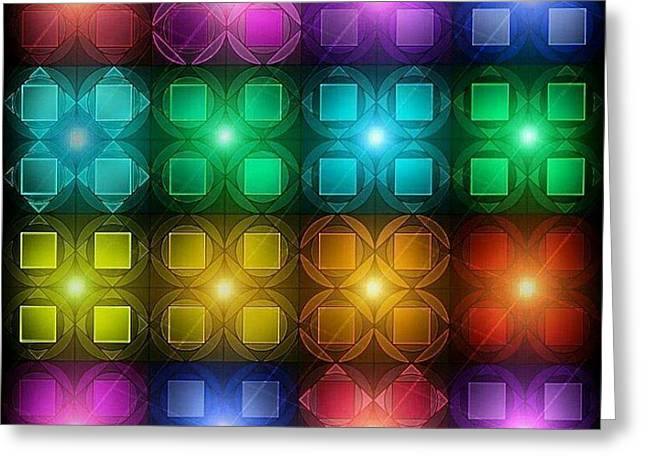 Colored Lights Greeting Card