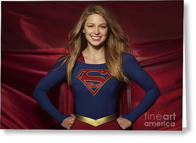 Colored Pencil Study Of Supergirl - Melissa Benoist Greeting Card