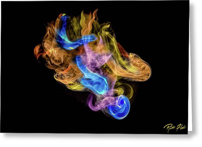 Greeting Card featuring the photograph Colored Vapors by Rikk Flohr
