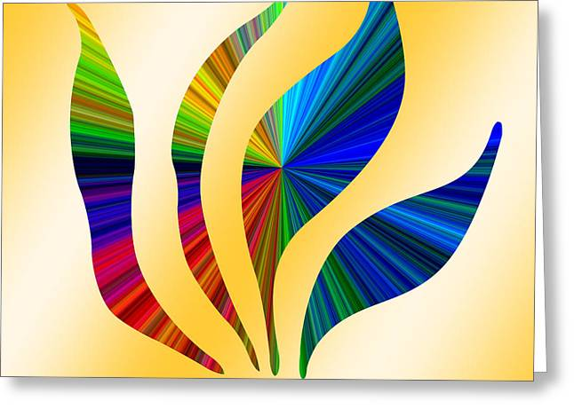 Colorful Abstract 12 Greeting Card by Aimee L Maher Photography and Art Visit ALMGallerydotcom
