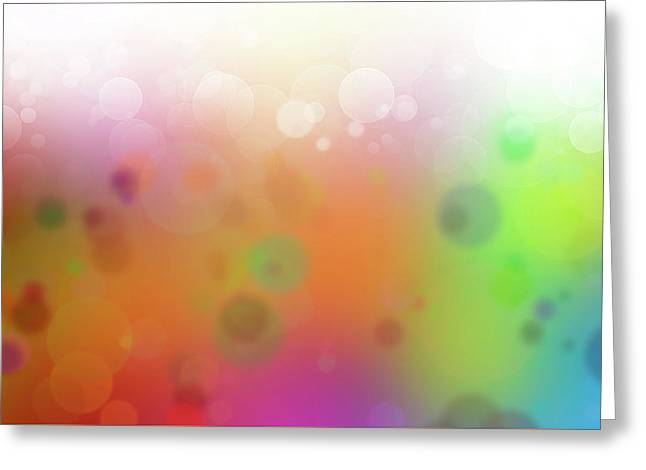 Colorful Abstract 2 Greeting Card by Les Cunliffe