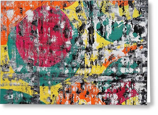 Colorful Abstract 2 Greeting Card by Sumit Mehndiratta