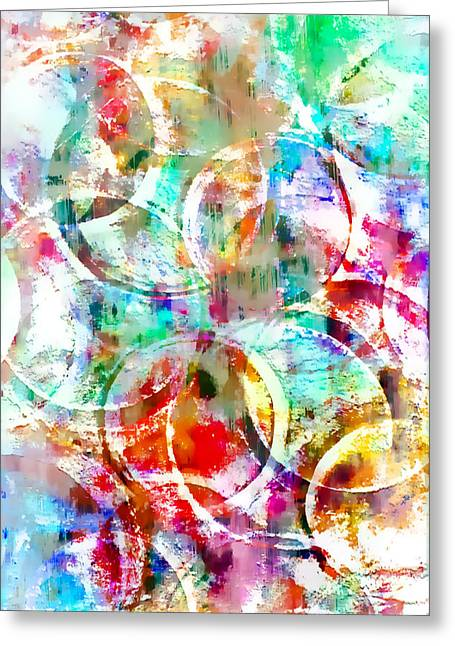 Colorful Abstract Greeting Card by Tom Gowanlock