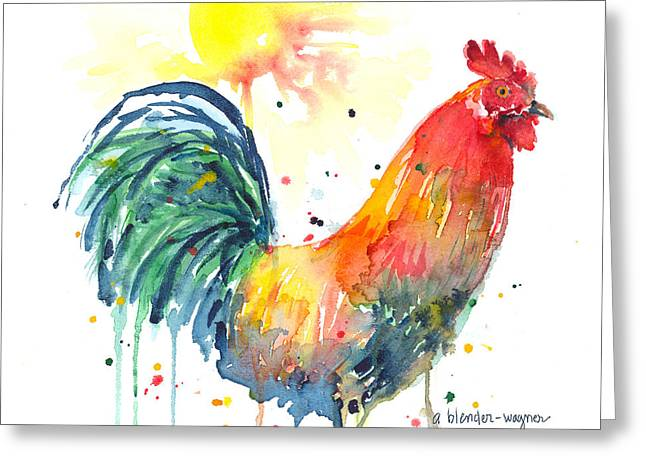 Colorful Alarm Clock Greeting Card by Arline Wagner