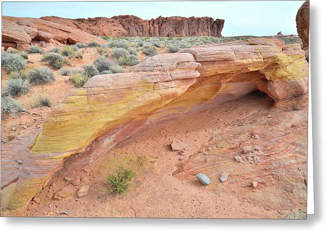 Greeting Card featuring the photograph Colorful Arch In Valley Of Fire by Ray Mathis