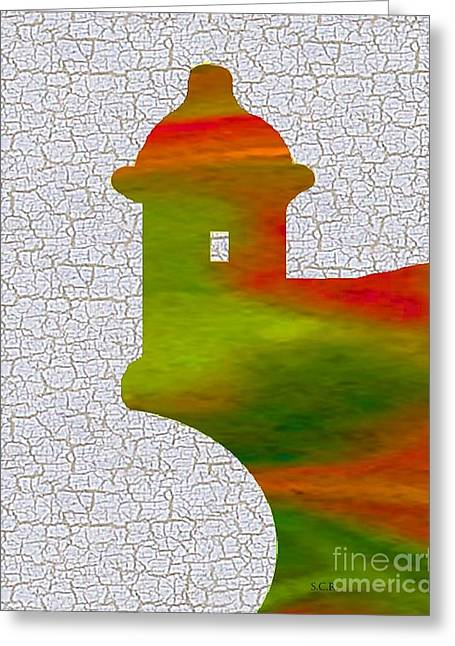 Colorful Art El Morro Greeting Card by Saribelle Rodriguez