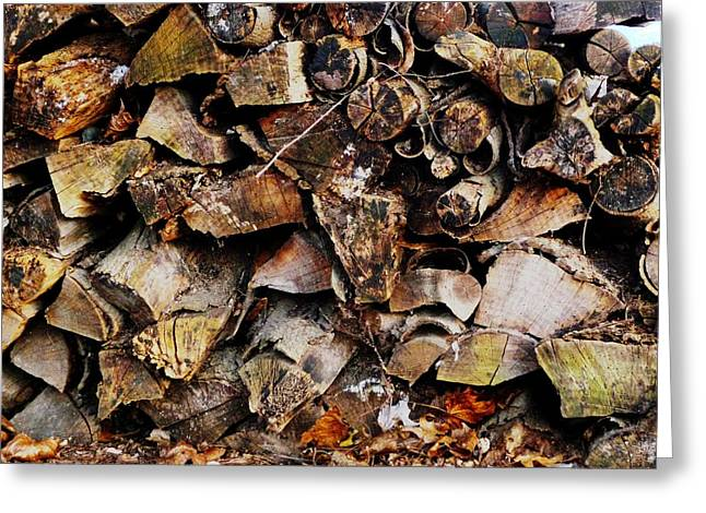 Colorful Autumn Logs Greeting Card