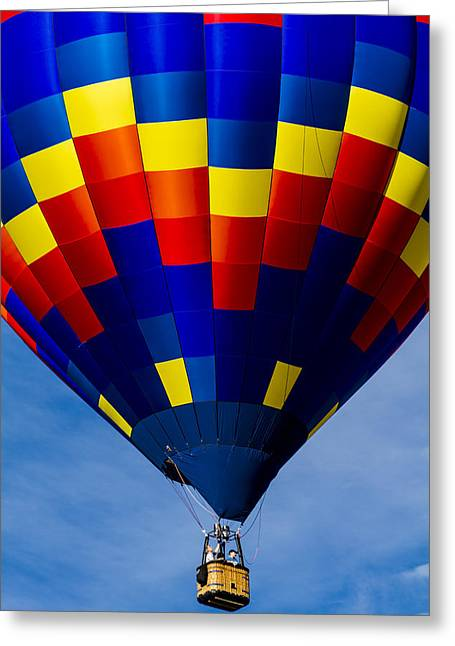 Colorful Balloon Flying High Greeting Card by Teri Virbickis