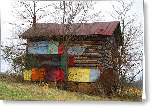 Colorful Barn Greeting Card by Kathryn Meyer