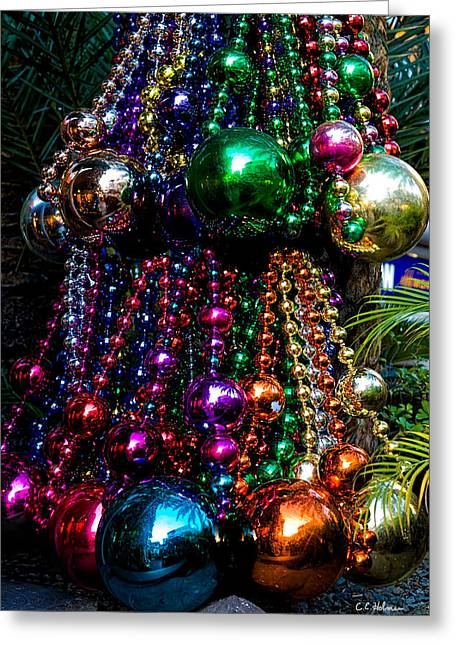 Colorful Baubles Greeting Card