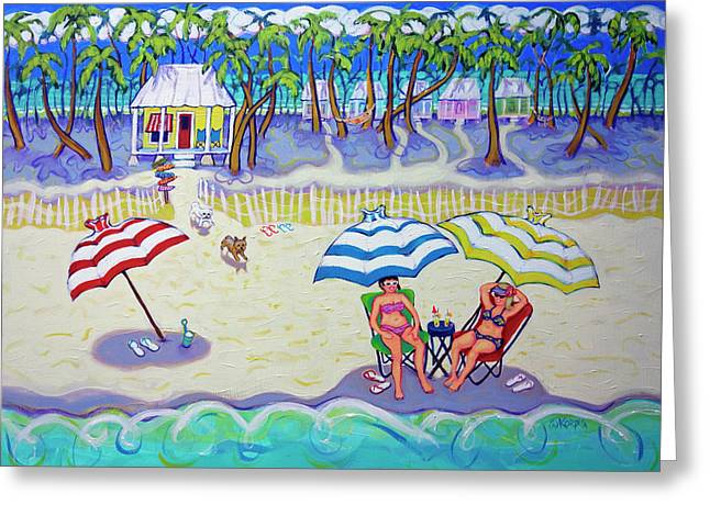 Colorful Beach Hideaway Greeting Card