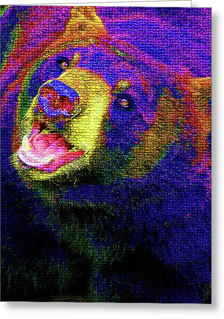 Colorful Bear Greeting Card by Karol Livote