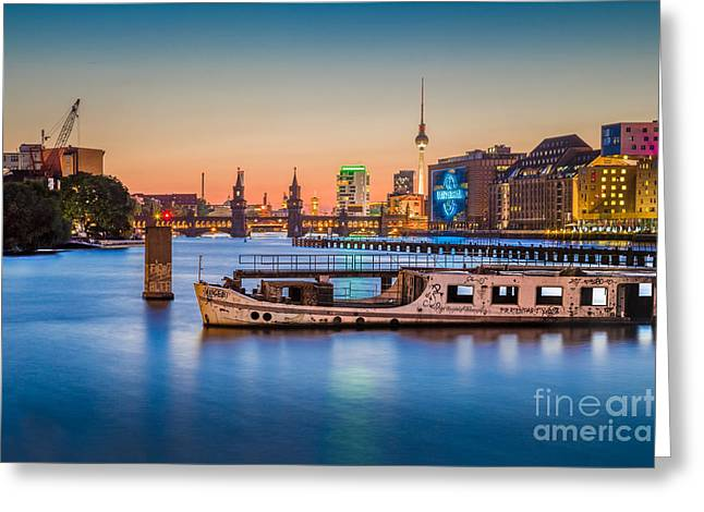 Colorful Berlin Greeting Card by JR Photography
