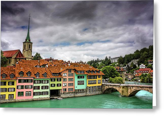 Colorful Bern Switzerland  Greeting Card