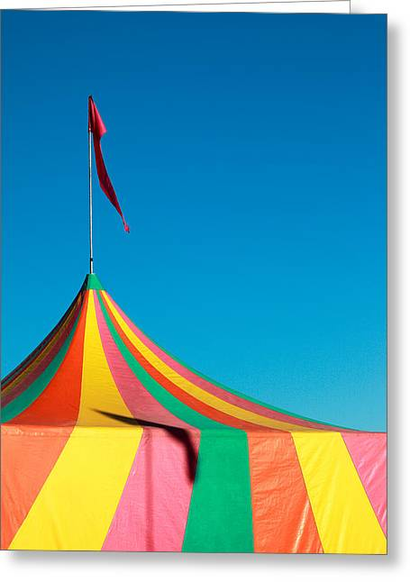 Colorful Big Top Tent At The Fair Greeting Card by Todd Klassy