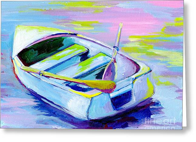 Colorful Boat 2 Greeting Card