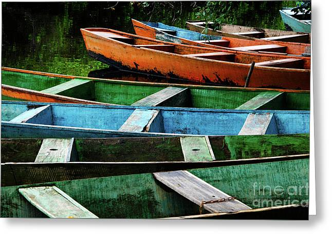 Colorful Boats Brazil Greeting Card