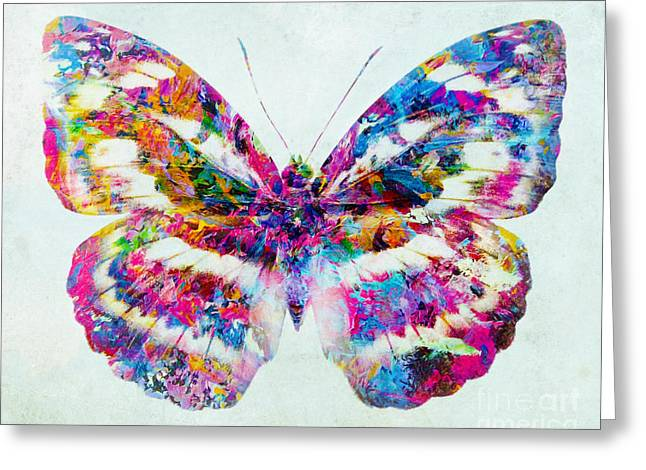 Colorful Butterfly Art Greeting Card