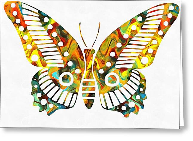 Colorful Butterfuly Greeting Card by Dan Sproul