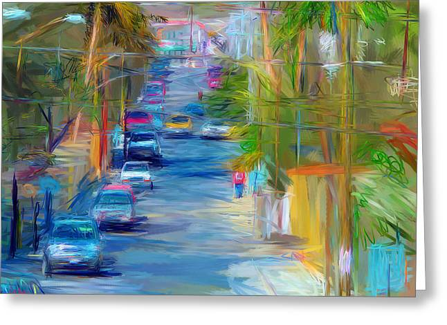 Colorful Calle  Greeting Card