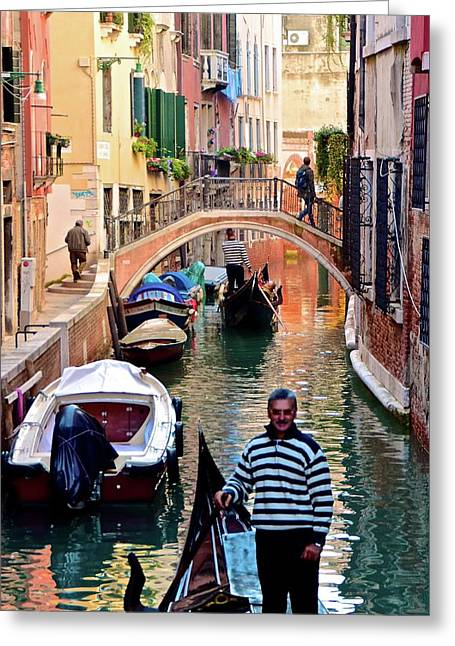 Colorful Canals Greeting Card by Frozen in Time Fine Art Photography