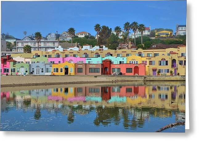 Colorful Capitola Venetian Hotel Greeting Card