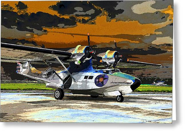 Pby Catalina Greeting Cards - Colorful Catalina Greeting Card by David Lee Thompson