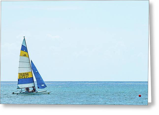 Colorful Catamaran 3 Delray Beach Florida Greeting Card