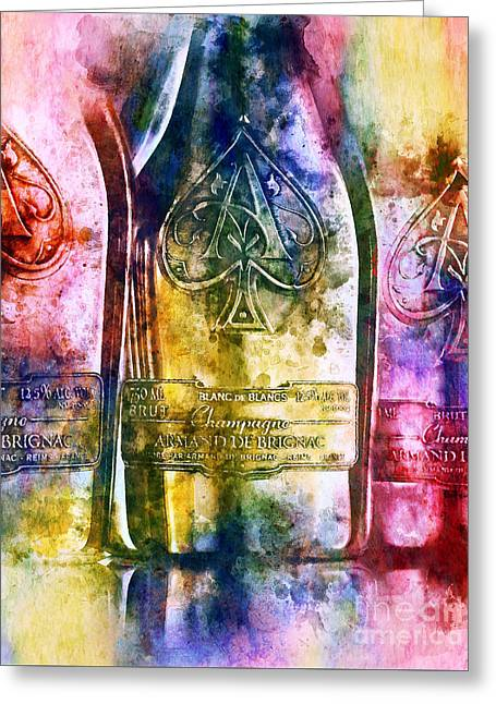Colorful Champagne Greeting Card by Jon Neidert