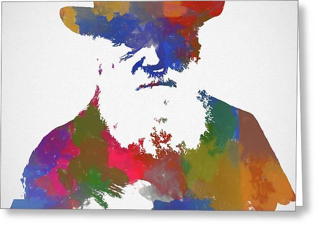 Colorful Charles Darwin Greeting Card