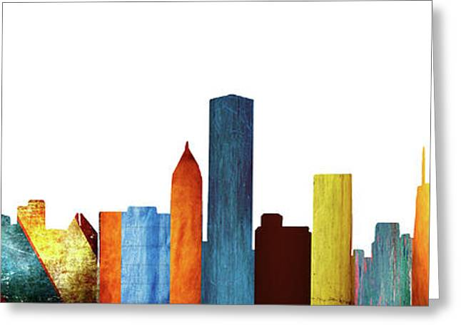 Colorful Chicago Skyline Greeting Card