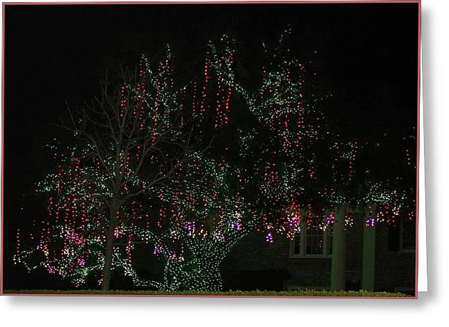 Greeting Card featuring the digital art Colorful Christmas Lights by Ellen Barron O'Reilly