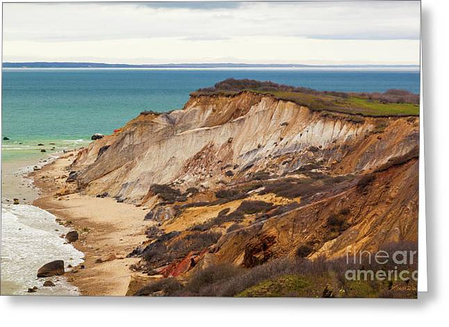 Greeting Card featuring the photograph Colorful Clay Cliffs On The Vineyard by Michelle Wiarda