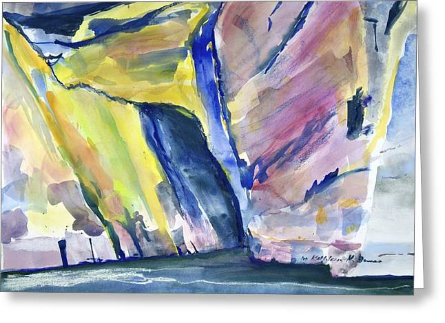 Colorful Cliffs And Cave Greeting Card