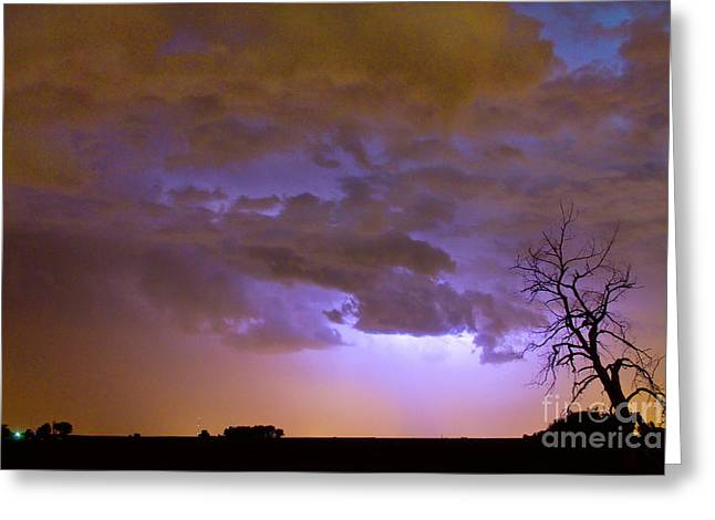 Colorful Colorado Cloud To Cloud Lightning Thunderstorm 27 Greeting Card