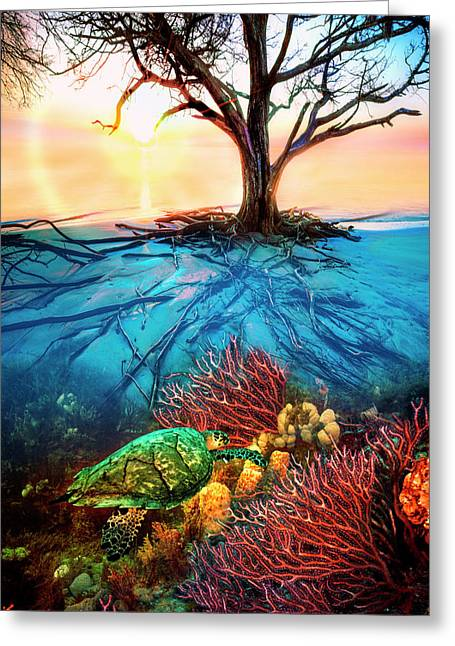 Colorful Coral Seas Greeting Card