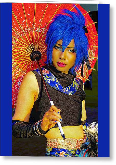 Colorful Cosplayer Greeting Card