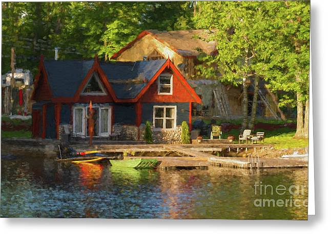 Colorful Cottage - Painterly Greeting Card