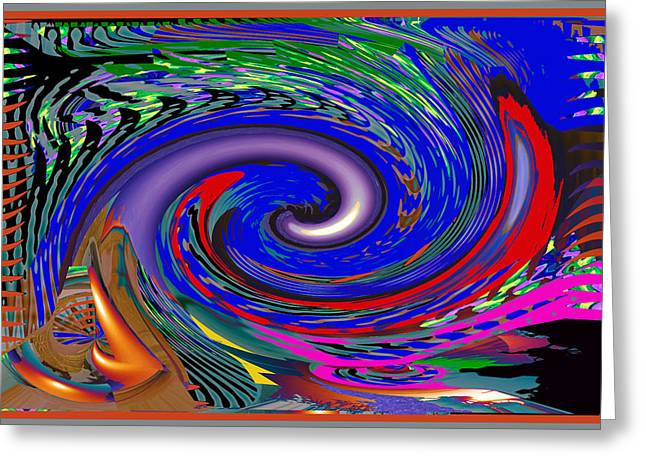 Colorful Crazy Wave Art Elegant Fineart Abstract Composition Greeting Card