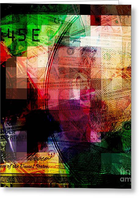 Greeting Card featuring the photograph Colorful Currency Collage by Phil Perkins
