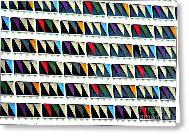 Colorful Curtainwall Greeting Card